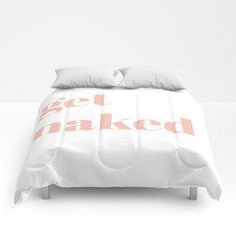 get naked V Comforters