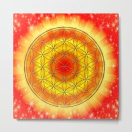 Mandala Blume des Lebens Metal Print