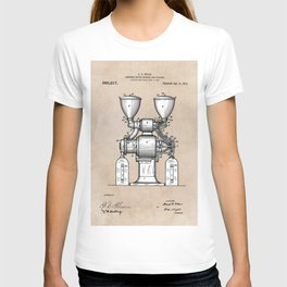 patent art Wear Combined Coffee grinder and cleaner 1911 T-shirt