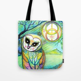 Celtic Owl Original Illustration from the Spirit Owl Series by Artist Sheridon Rayment . Tote Bag