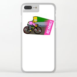 bart on fixie Clear iPhone Case