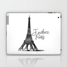 TYPOGRAPHIC ART - J'adore Paris, Paris, Typography Wall Art, Printable Art Laptop & iPad Skin