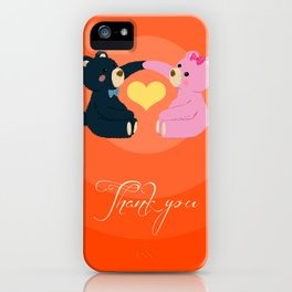 Thank you for your love iPhone Case