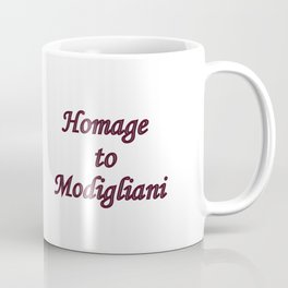 Homage to Modigliani - Lost in a Different Timeline Coffee Mug