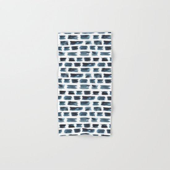 Indigo brushstrokes Hand & Bath Towel
