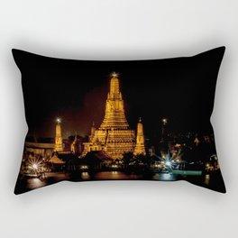 Wat Arun at Night, Bangkok, Thailand Rectangular Pillow