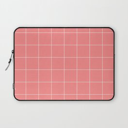 Abstraction_LINES_CORAL_Minimalism_001 Laptop Sleeve