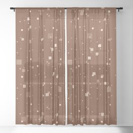 simple geometric pixel pattern 2 co Sheer Curtain