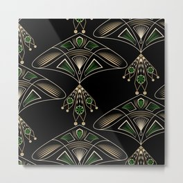 "Art Deco ""Emeralds "" Metal Print"