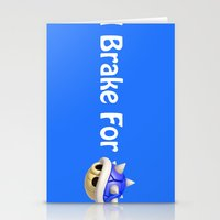 mario kart Stationery Cards featuring I Brake For Blue Shells (Mario Kart)  by Don Enrique