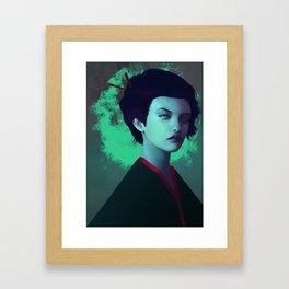 Moon Girl Framed Art Print