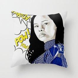 Frankie Adams Throw Pillow