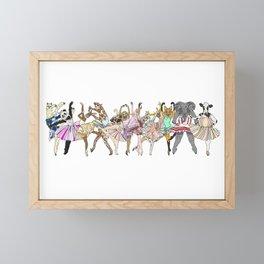 Animal Ballet Hipsters LV Framed Mini Art Print