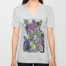 Stack Em Up! - Abstract, textured, pastel coloured artwork Unisex V-Neck