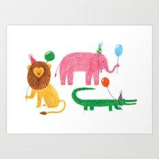 It's party time! Art Print