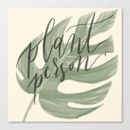 Plant Person Canvas Print