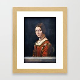Portrait Of An Unknown Woman by Leonardo Da Vinci Framed Art Print