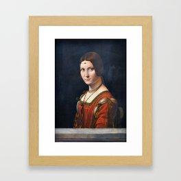 Portrait Of An Unknown Woman by Leonardo Da Vinci Framed Art Print