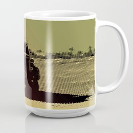 truck in the desert Coffee Mug