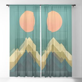 Gold Peak Sheer Curtain