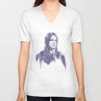 jack white V-neck T-shirts featuring Jack by Alec Hawkins