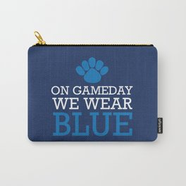 ON Game day We Wear Blue Carry-All Pouch
