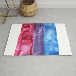 bisexual watercolor flag Rug