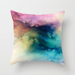 Rainbow Dreams Throw Pillow