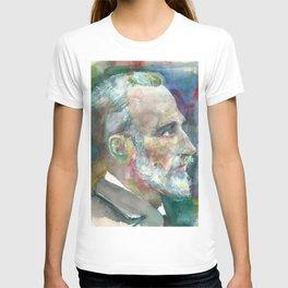 PIERRE CURIE - watercolor portrait T-shirt