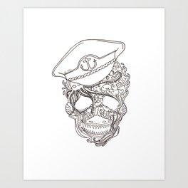Captain Ocean Art Print