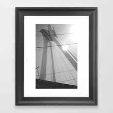 Bridge in Ludwigshafen, Germany. Framed Art Print