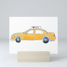 NYC taxi cab Mini Art Print