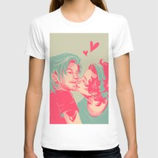 Too Sweet I Might Get Cavities LARGE Womens Fitted Tee White