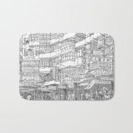 Hong Kong. Kowloon Walled City Bath Mat