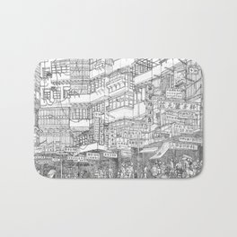 Hong Kong. Kowloon Walled City Bath Mat