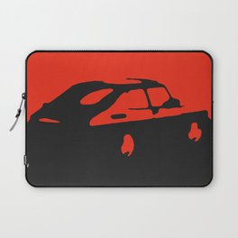 Saab 900 classic, Red on Black Laptop Sleeve