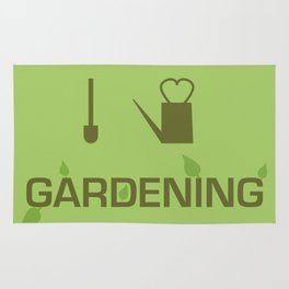 I heart Gardening Rug