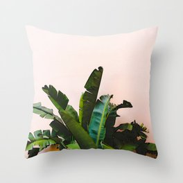 #tropical #leaf Throw Pillow
