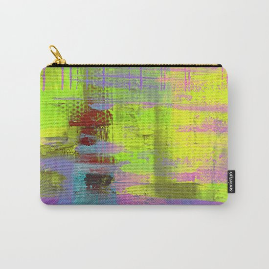 Abstract Thoughts 3 - Textured painting Carry-All Pouch