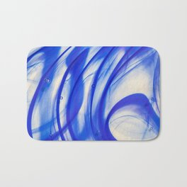 Abstract blue glass texture Bath Mat