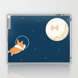 Fly to the moon _ navy blue version Laptop & iPad Skin
