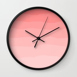 Grapefruit Blush Gradient Ombre Wall Clock