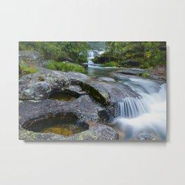 Waterfalls in wild forest Metal Print