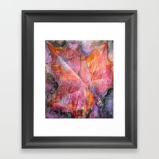 Leaf Rubbing Framed Art Print