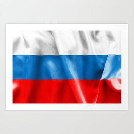 Russian Federation Flag Art Print