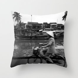 Vietnam's bycicle Throw Pillow
