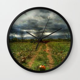 the pumpkin patch Wall Clock