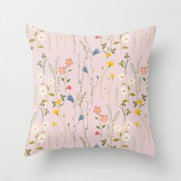 Dreamy Floral Pattern Throw Pillow