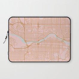 Calgary map, Canada Laptop Sleeve