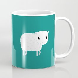 Smiling Sheep - Green Coffee Mug